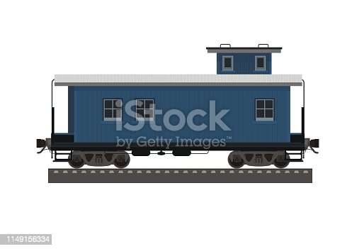simple illustration of a long caboose wagon