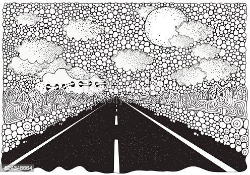 ᐈ Imagen De Carretera Coche Largo Que Se Extiende En La Distancia