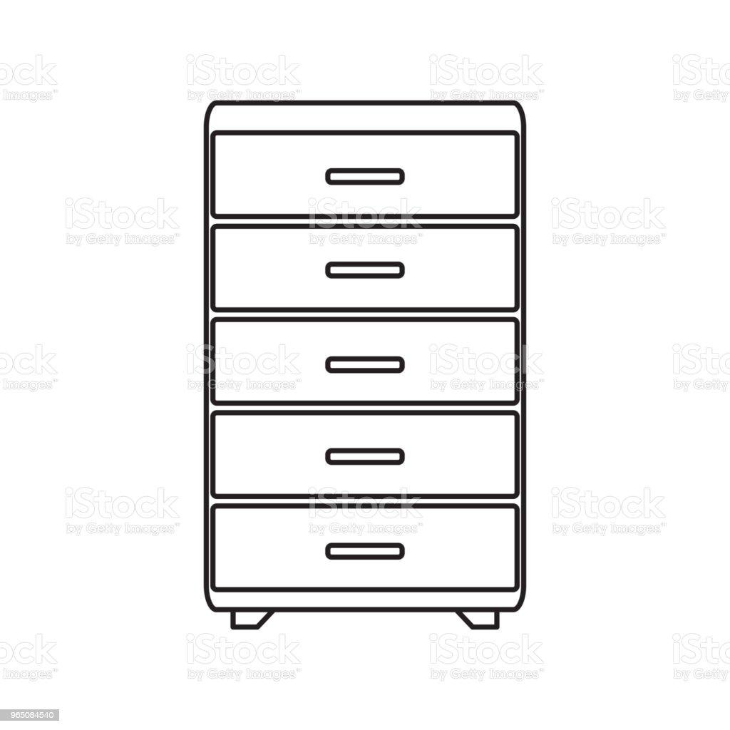 long drawer line icon long drawer line icon - stockowe grafiki wektorowe i więcej obrazów azerbejdżan royalty-free