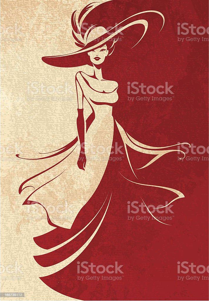 Long Dress vector art illustration