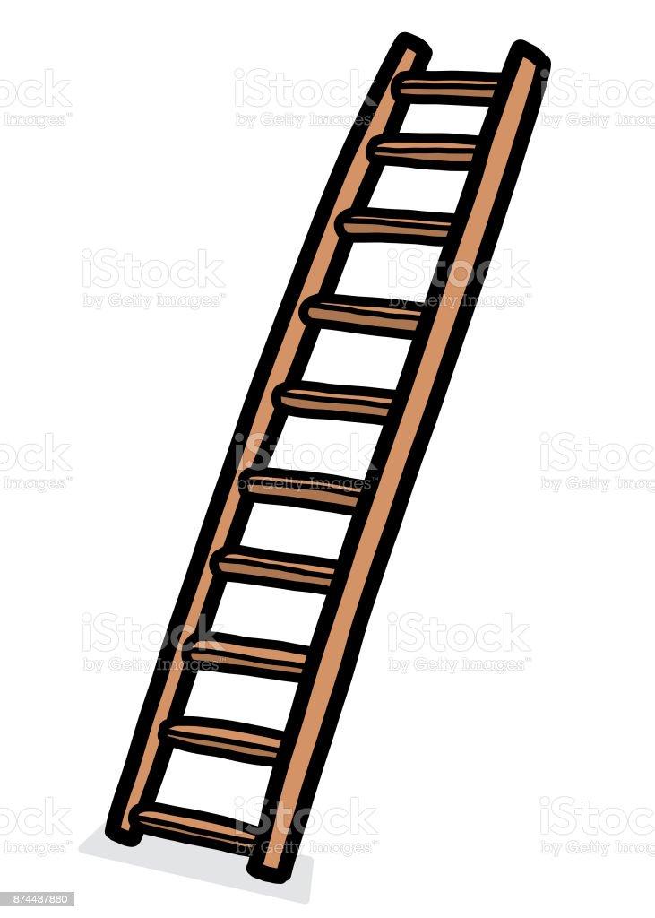 long ladder vector art illustration
