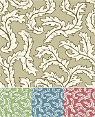 Seamless pattern shown with four example color schemes.