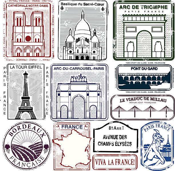 stockillustraties, clipart, cartoons en iconen met long live viva la france - pont du gard