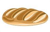 Long loaf of bread