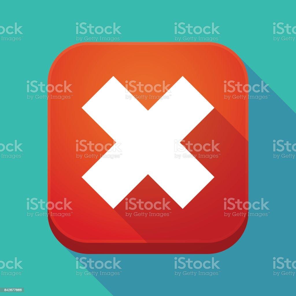 x 記号で長い影のアプリのアイコン アイコンのベクターアート素材や
