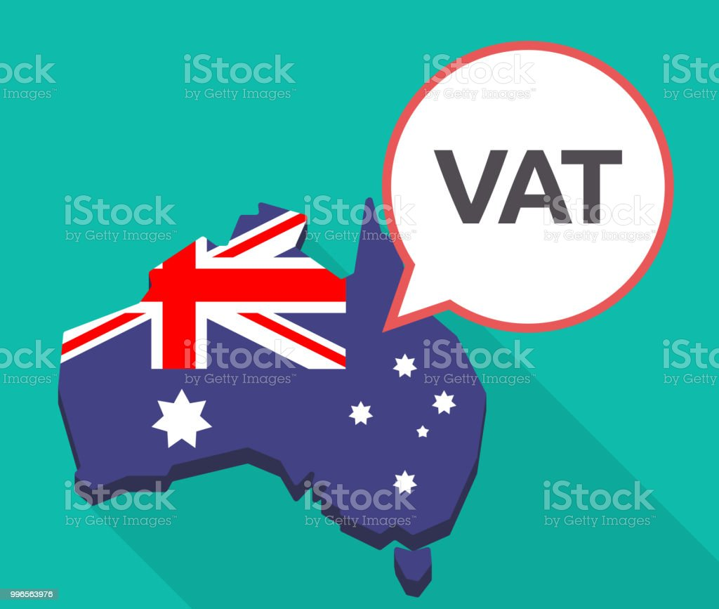 Long Shadow Australia Map With The Value Added Tax Acronym ... on map code, map medical term, map centerpiece, map benelux belgium,