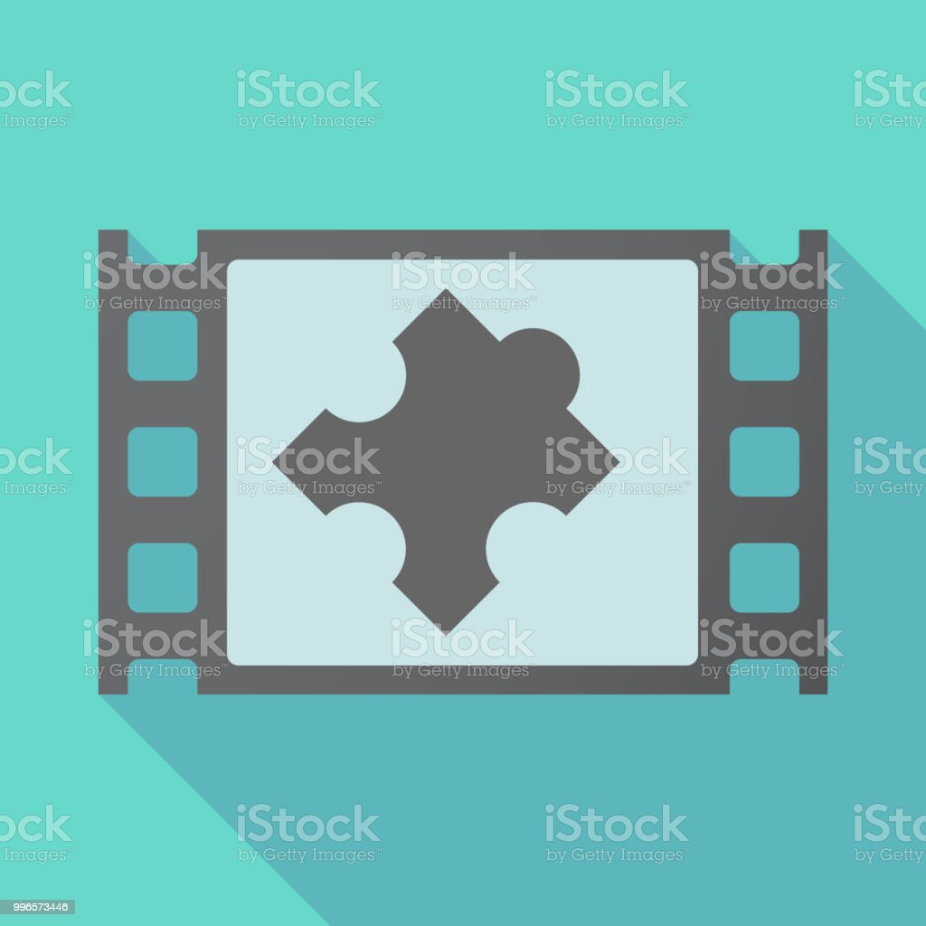 long shadow film frame with a puzzle piece stock vector art more