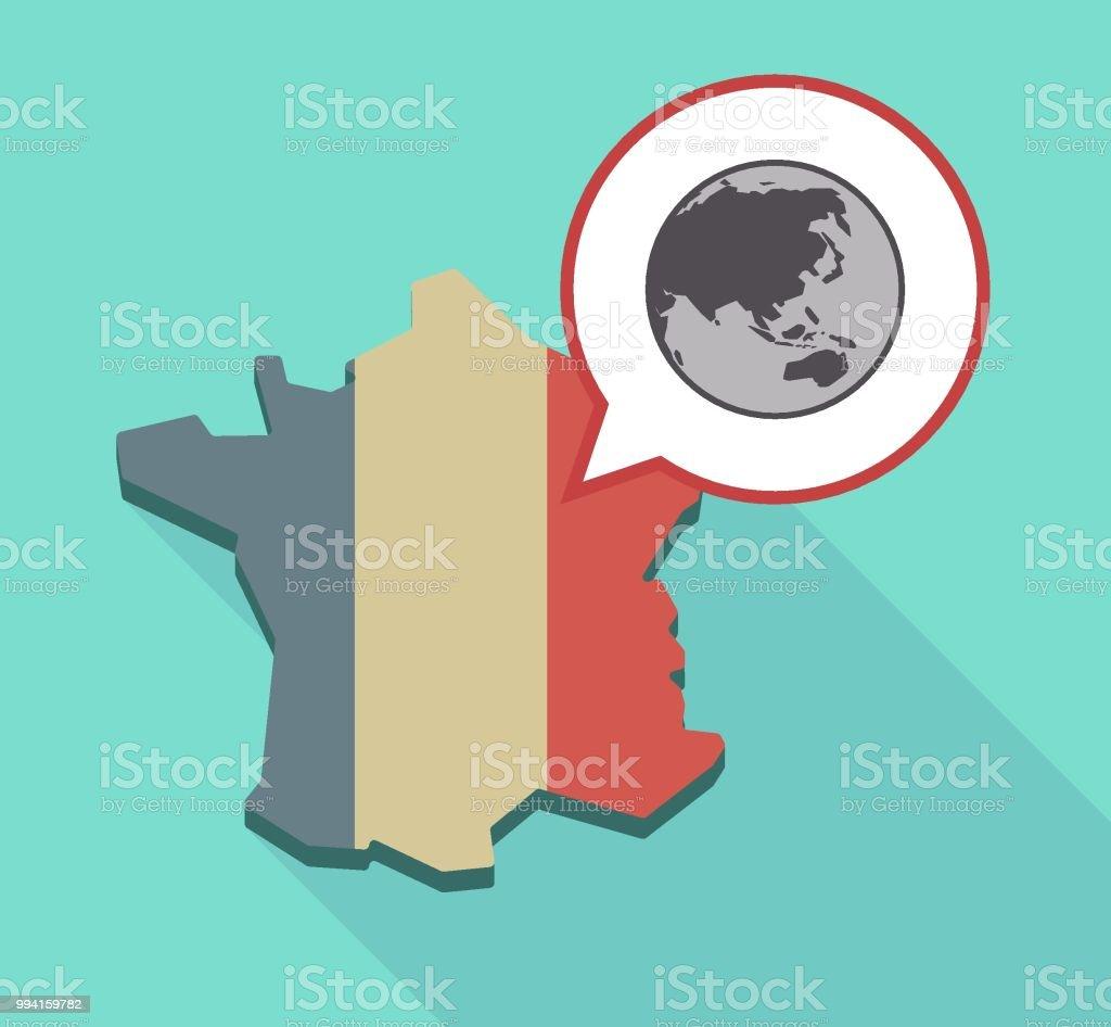 Carte Geographique Asie Pacifique.Lombre Longue Carte De France Avec Une Carte Du Globe Monde Asie