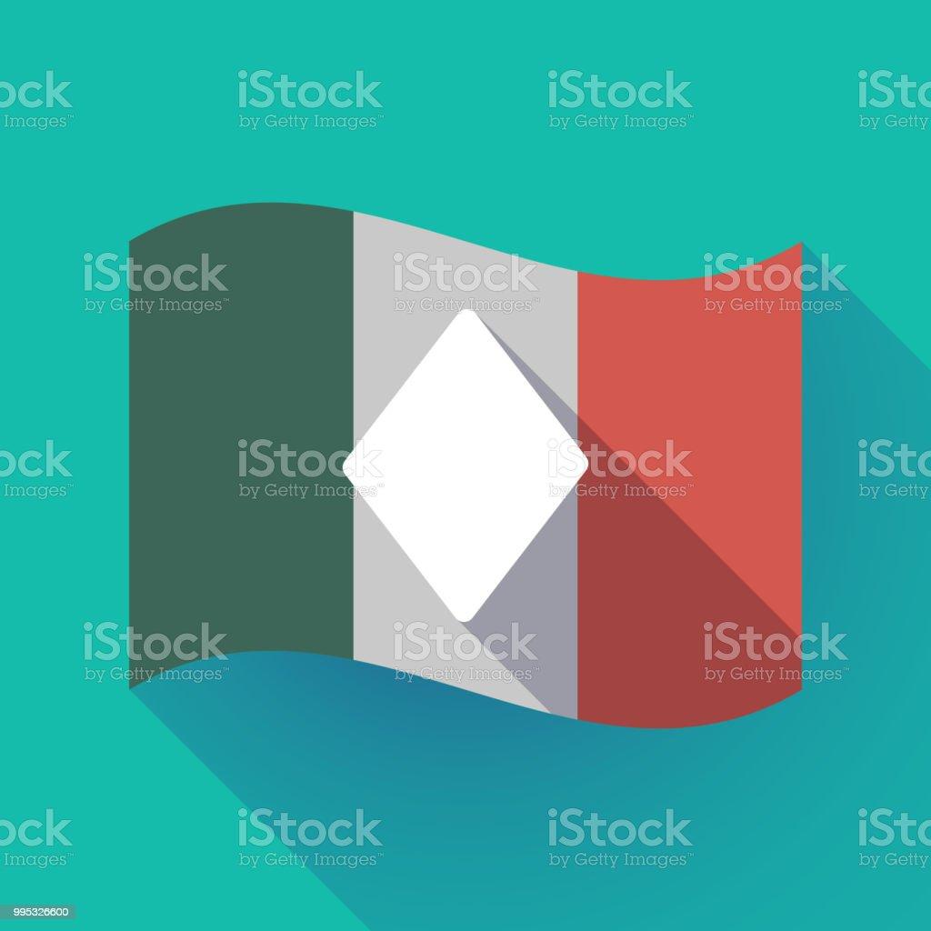 Carte Italie Jeux.Shadow Long Drapeau Ditalie Avec Le Signe De Jeux De Cartes De Poker De Diamant Vecteurs Libres De Droits Et Plus D Images Vectorielles De Affaires