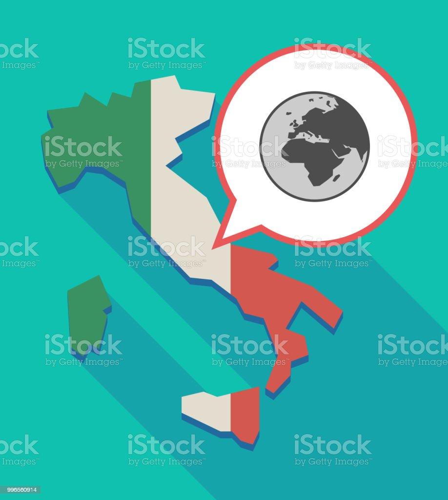 Italien Karte Regionen.Lange Schatten Italien Karte Mit Einem Asien Afrika Und Europa