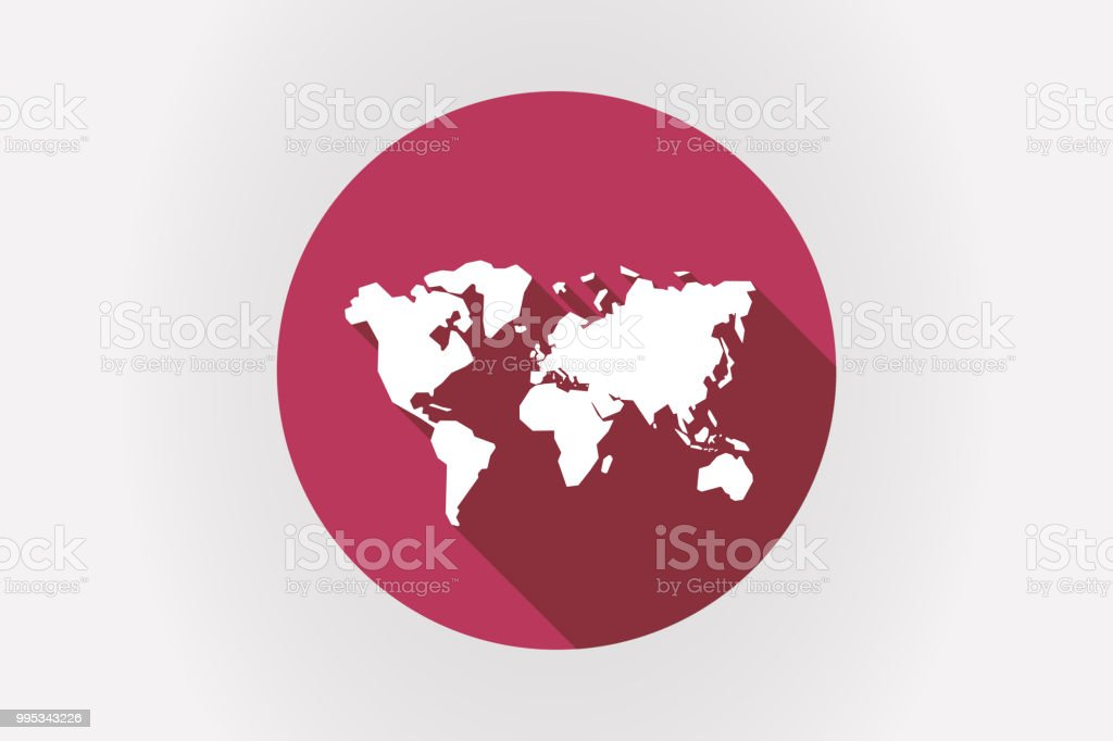 Long Shadow Japan Flag With A World Map Stock Vector Art & More ...