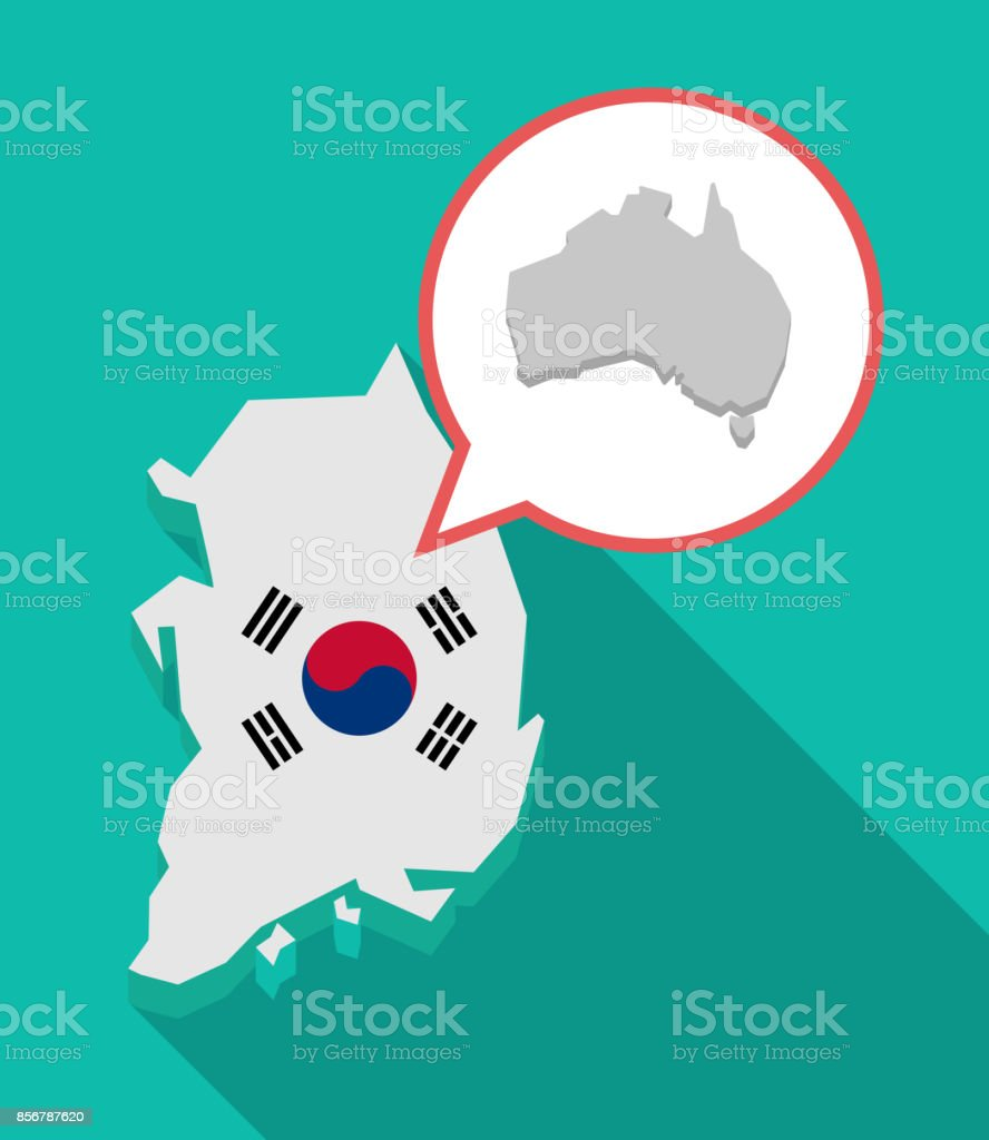 long shadow south korea map with a map of australia royalty free long shadow south