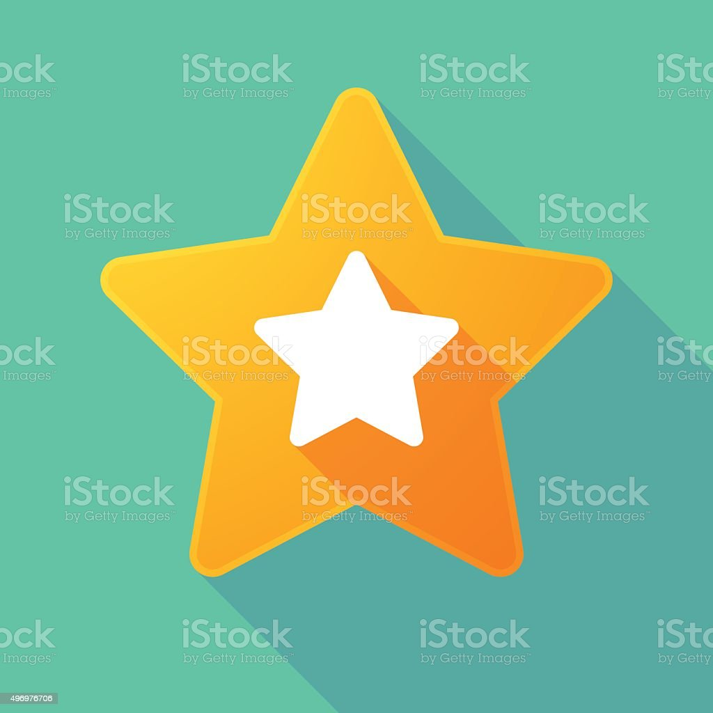 Long shadow star vector art illustration