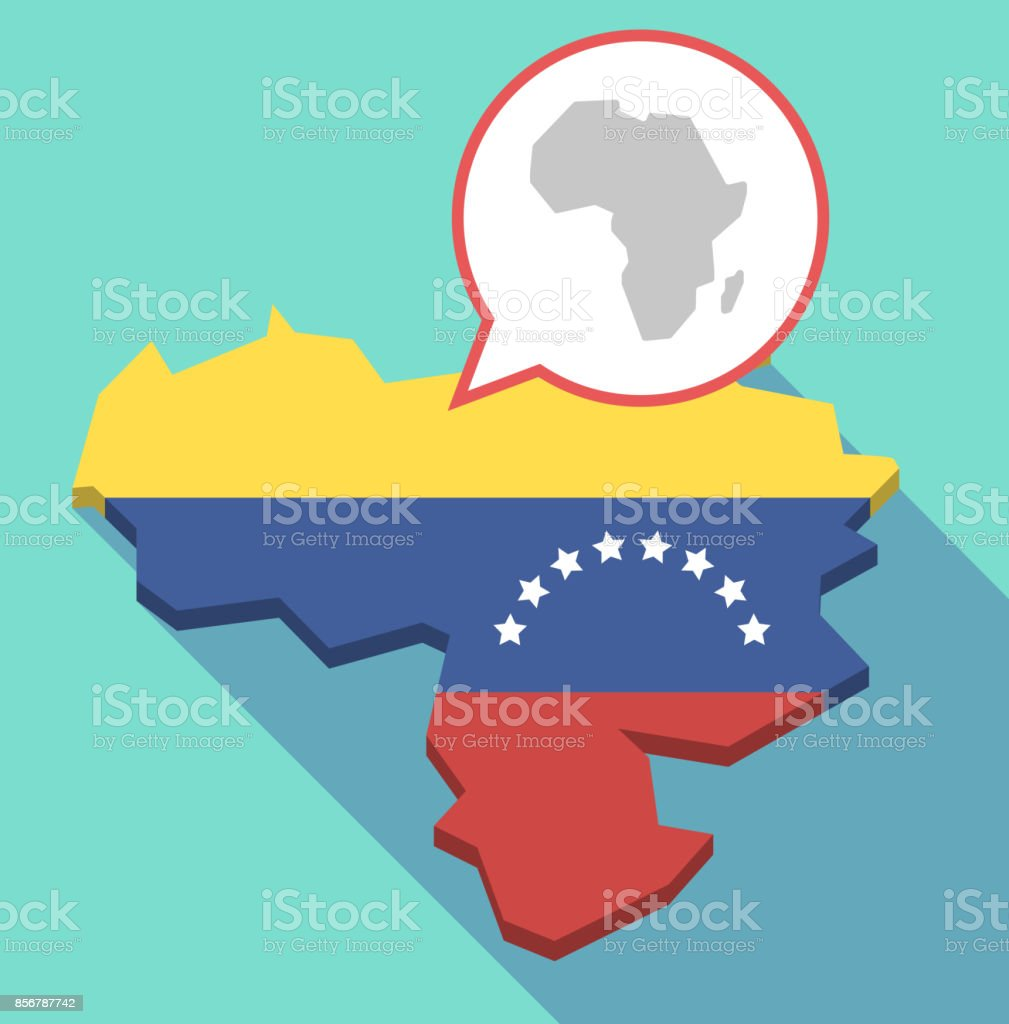 Long shadow venezuela map with a map of the african continent stock long shadow venezuela map with a map of the african continent royalty free long shadow gumiabroncs Choice Image