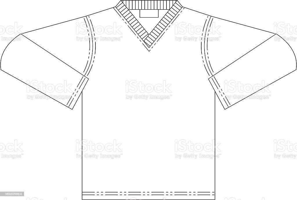 Long Sleeve T Shirt royalty-free stock vector art