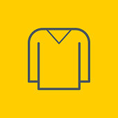 Long sleeve T-shirt icon,vector illustration. EPS 10.