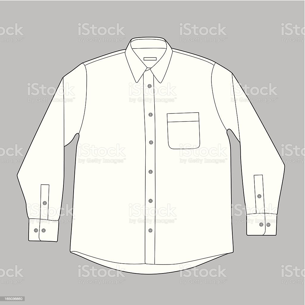 Long Sleeves Shirt vector art illustration