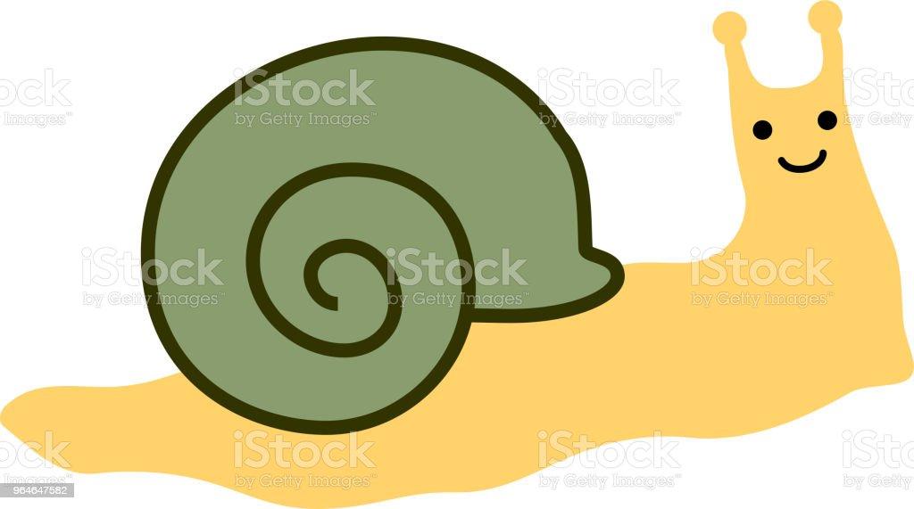 Long snail illustration 2 vector art illustration