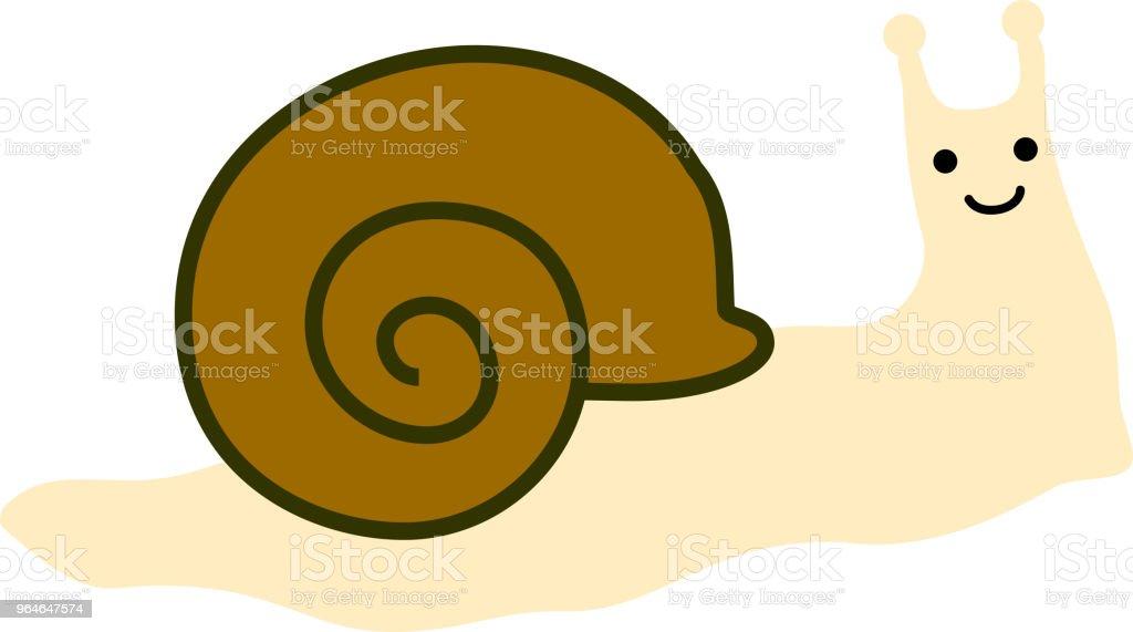 Long snail illustration vector art illustration