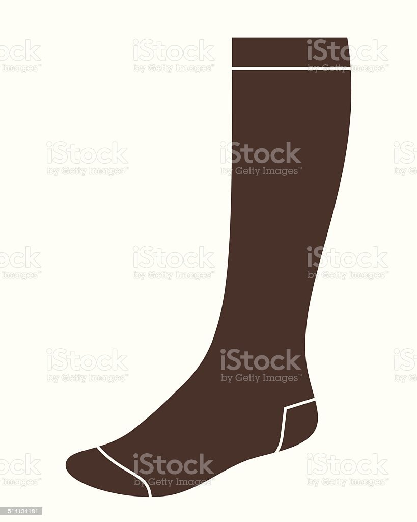 Long sock vector art illustration