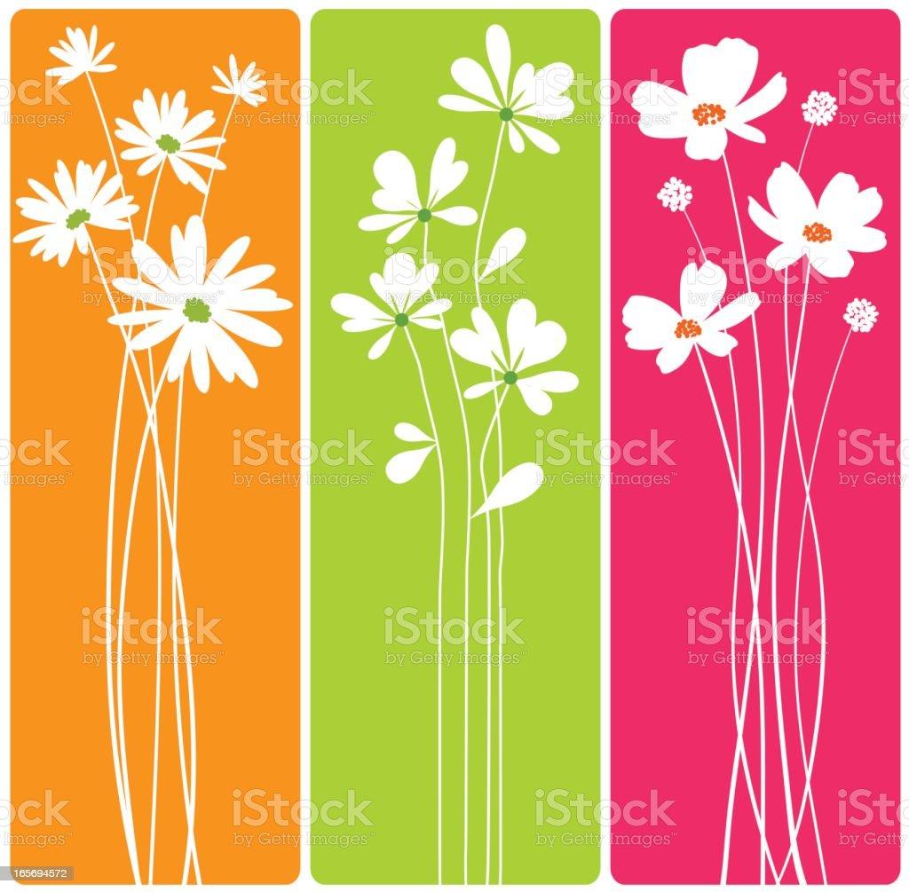 Long Stem Flowers vector art illustration