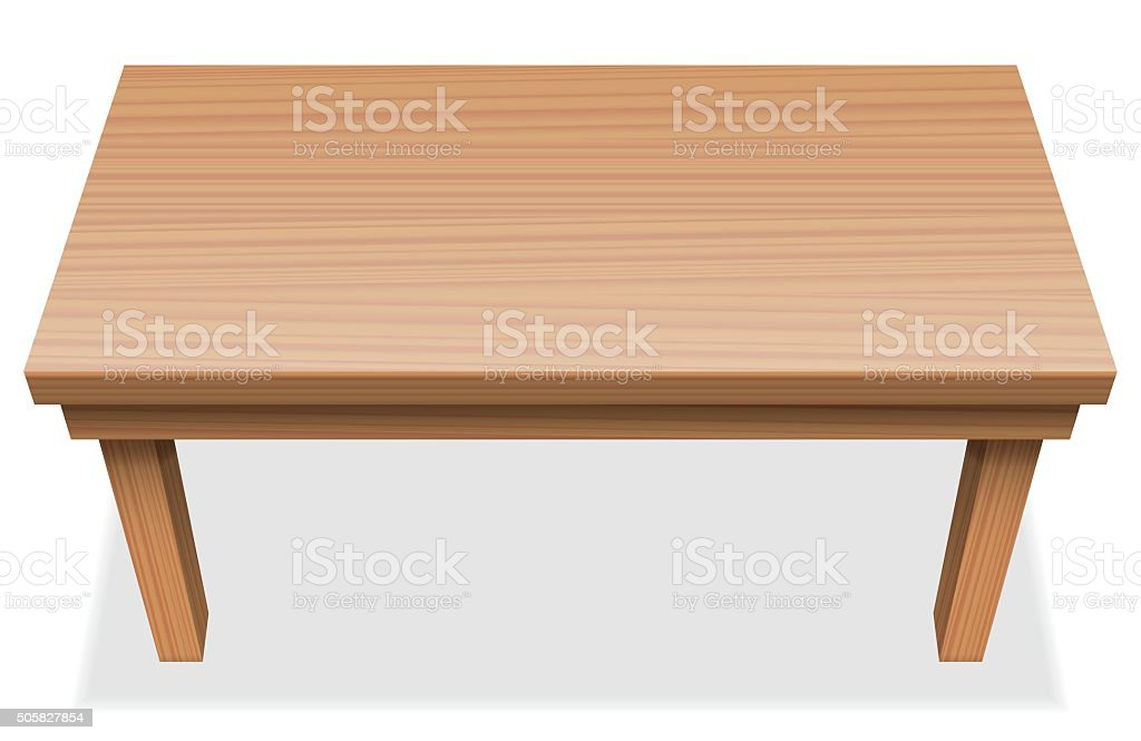 Long Table Wooden Texture vector art illustration
