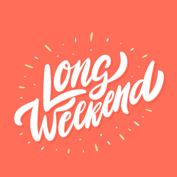Long Weekend. Vector lettering. Long Weekend. Vector lettering. Vector hand drawn illustration. city break stock illustrations