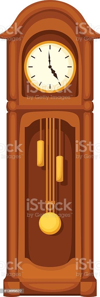 royalty free grandfather clock clip art vector images rh istockphoto com grandfather clock clip art free Time Clock Clip Art