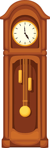 Royalty Free Grandfather Clock Clip Art, Vector Images ...