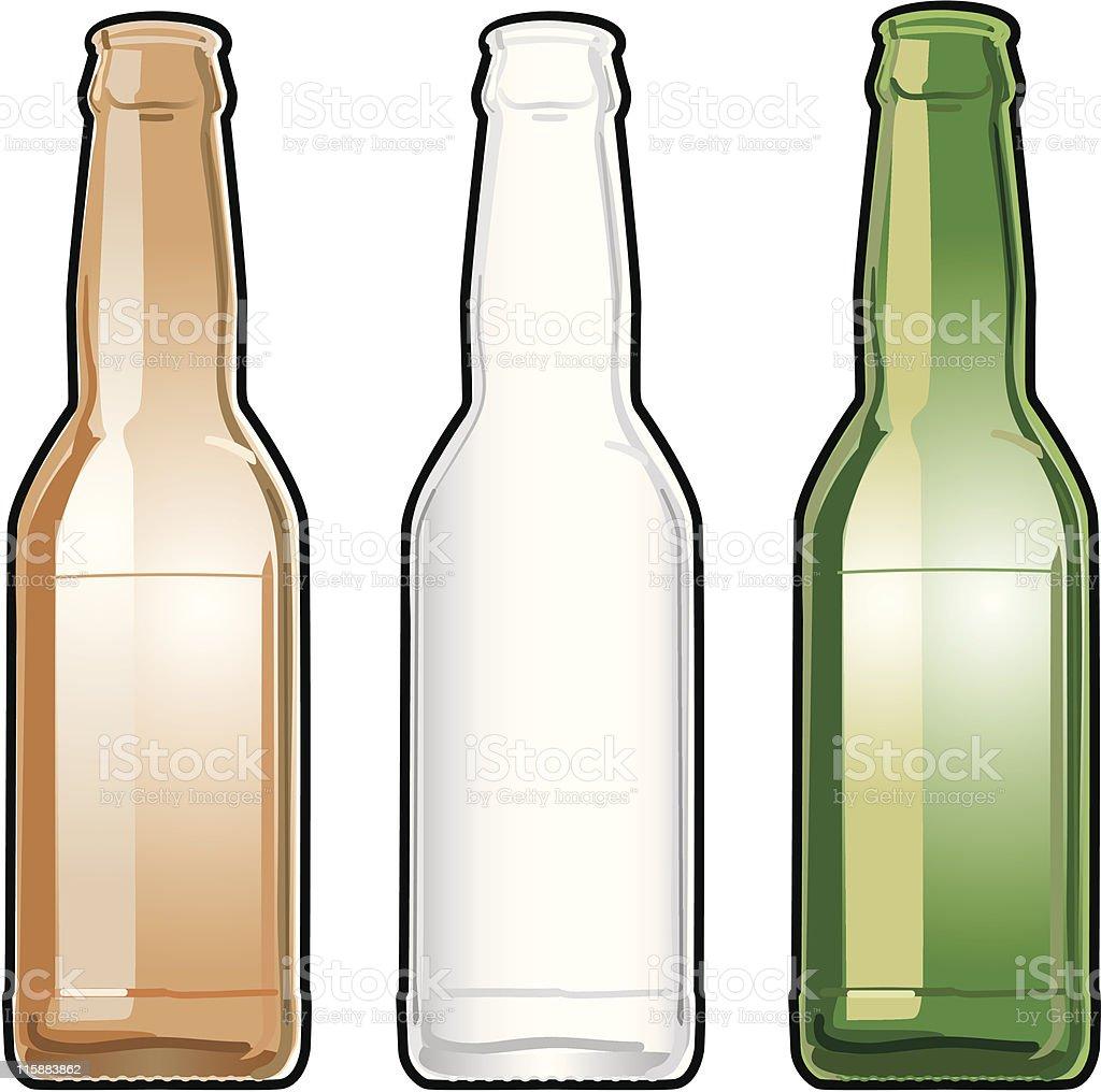 Longneck Beer Bottles royalty-free stock vector art