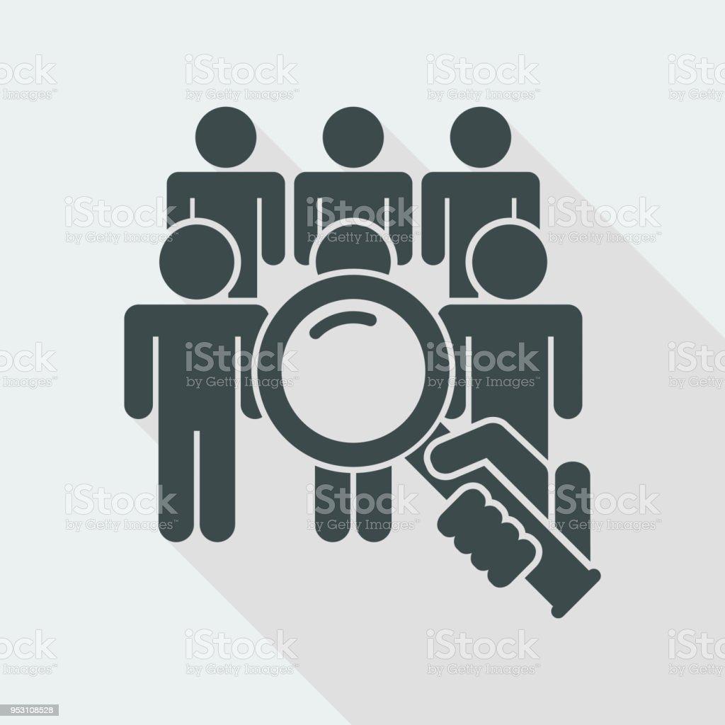 Buscar persona - ilustración de arte vectorial
