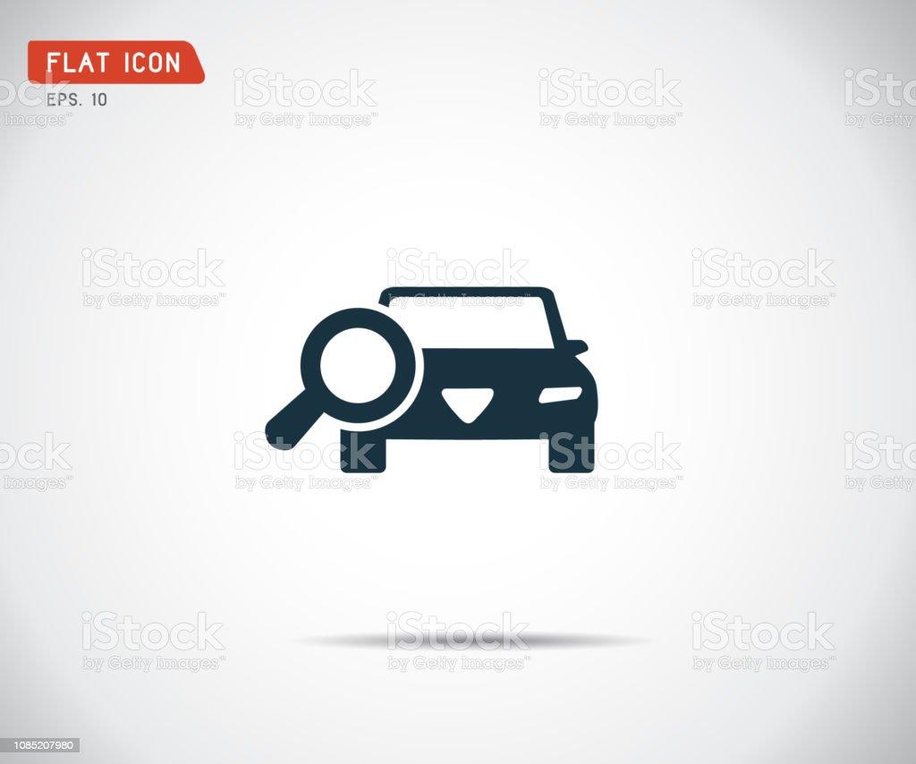 Auf Der Suche Für Auto Verkaufen Icon Lupe Suche Auto
