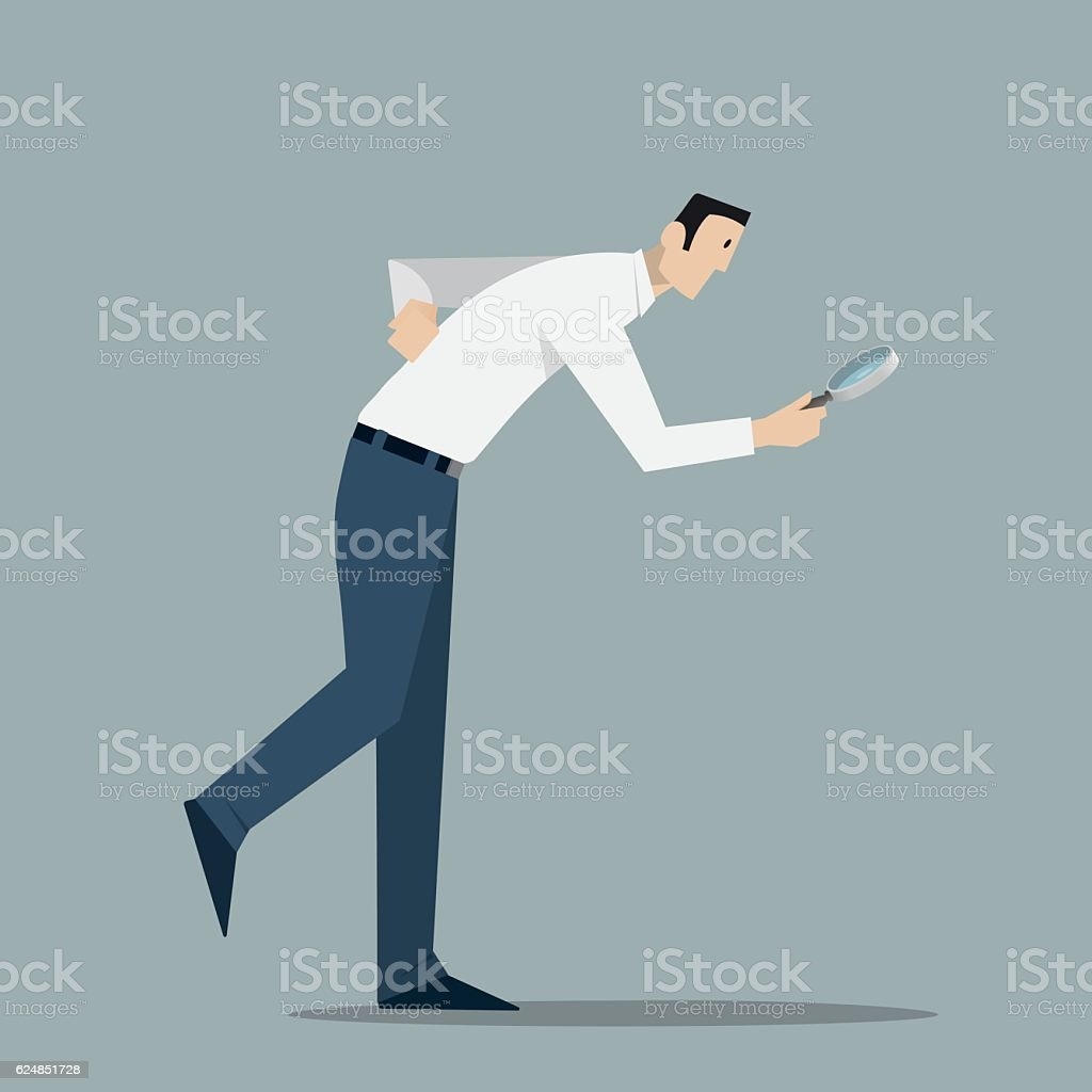 Looking For Clues. vector art illustration