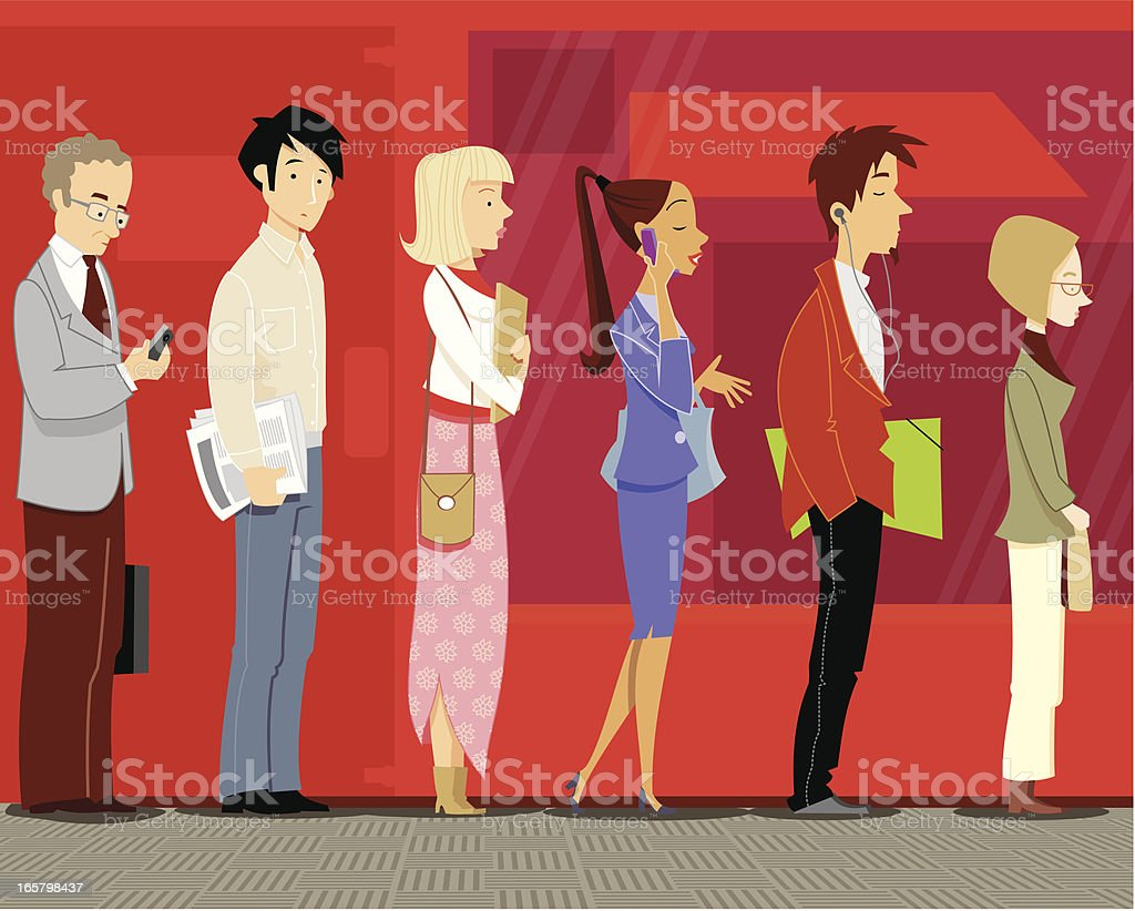 Looking for work royalty-free stock vector art