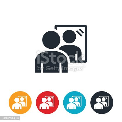 istock Looking In Mirror Icon 936281414