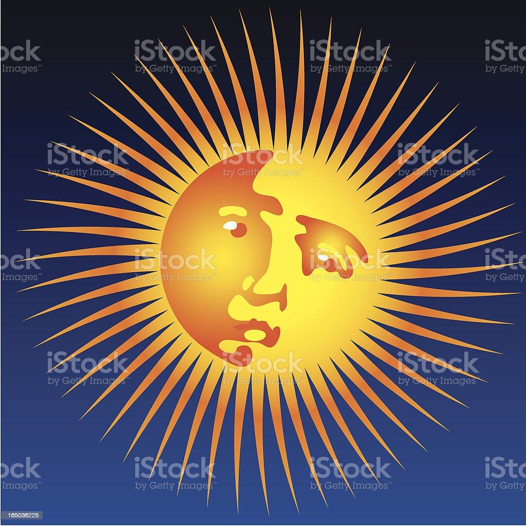 looking sun royalty-free stock vector art
