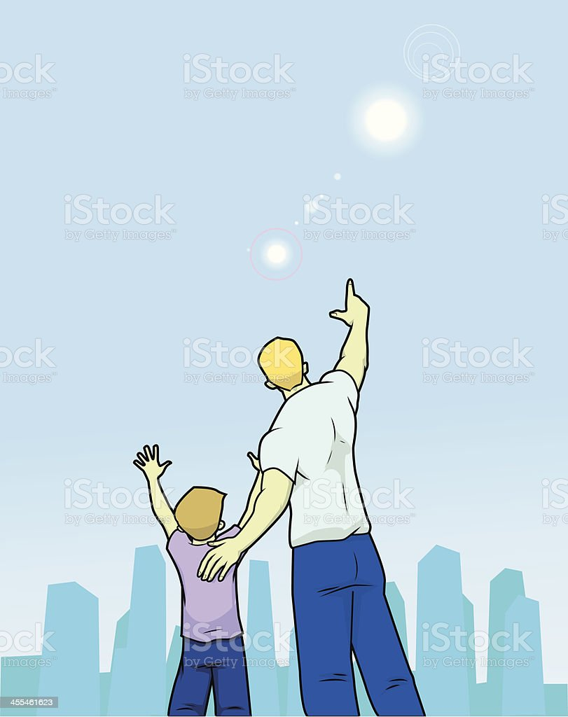 Lookup to the sky royalty-free lookup to the sky stock vector art & more images of aiming