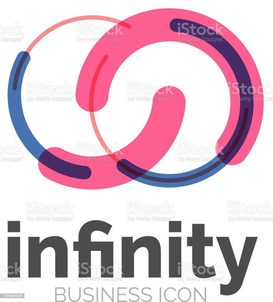 Loop, infinity business icon vector art illustration