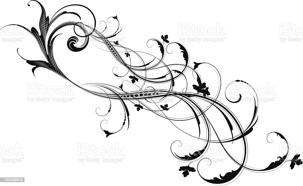 Looping Scrollwork royalty-free looping scrollwork stock vector art & more images of angle