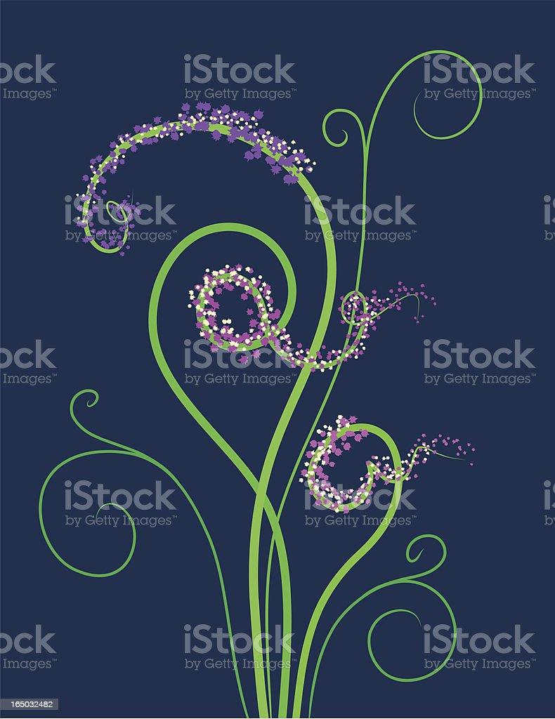 loopy flower royalty-free stock vector art