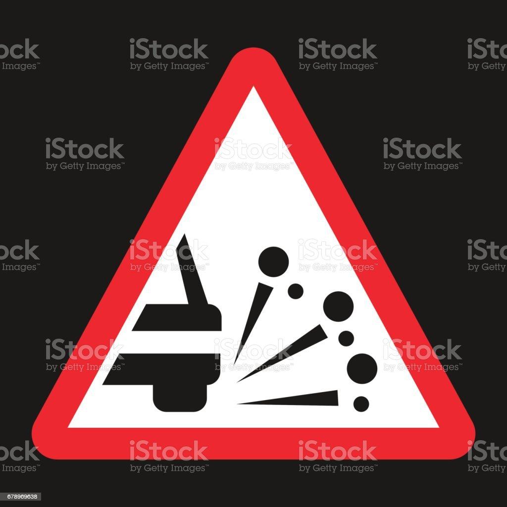 Loose chippings and gravel flat icon vector art illustration