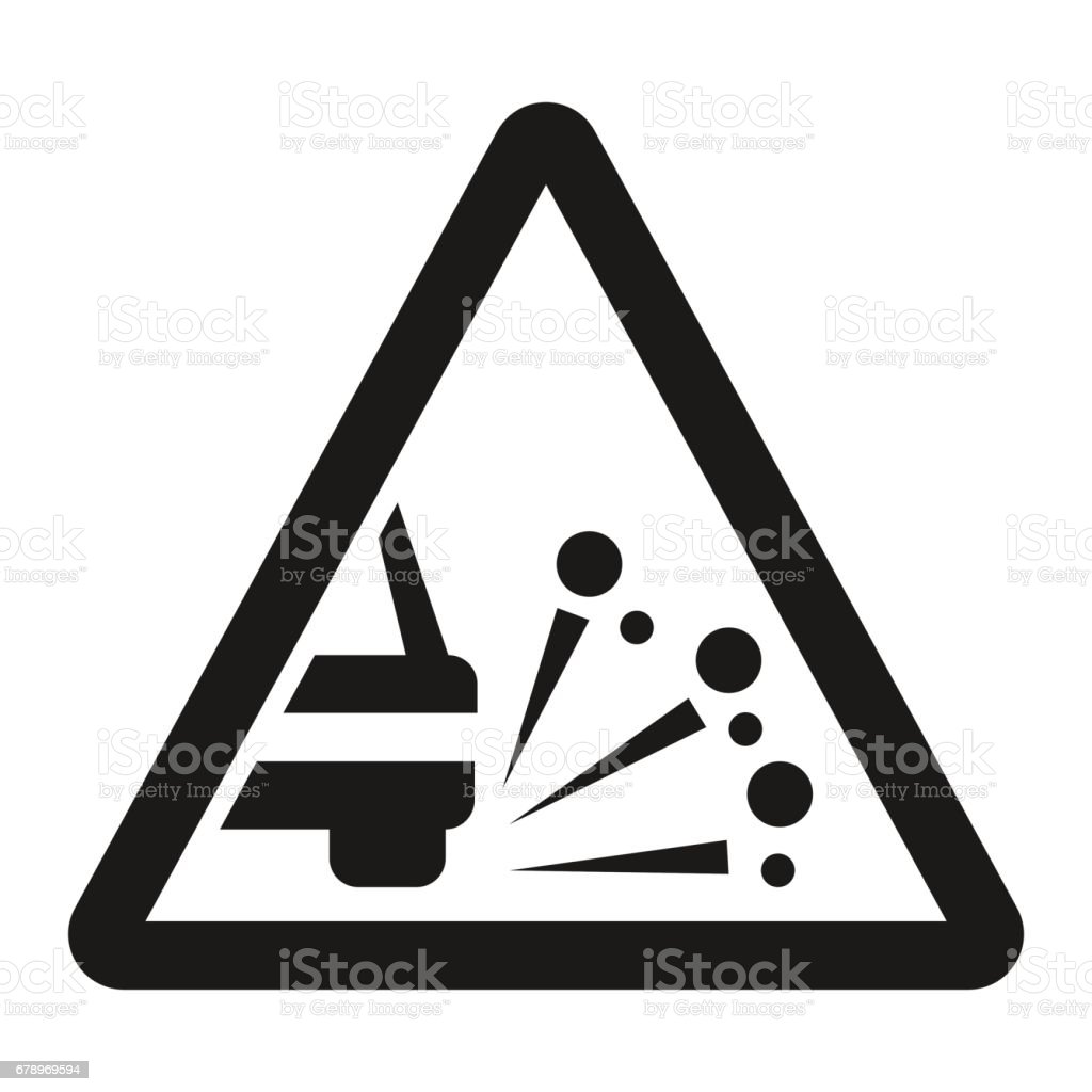 Loose chippings and gravel line icon vector art illustration