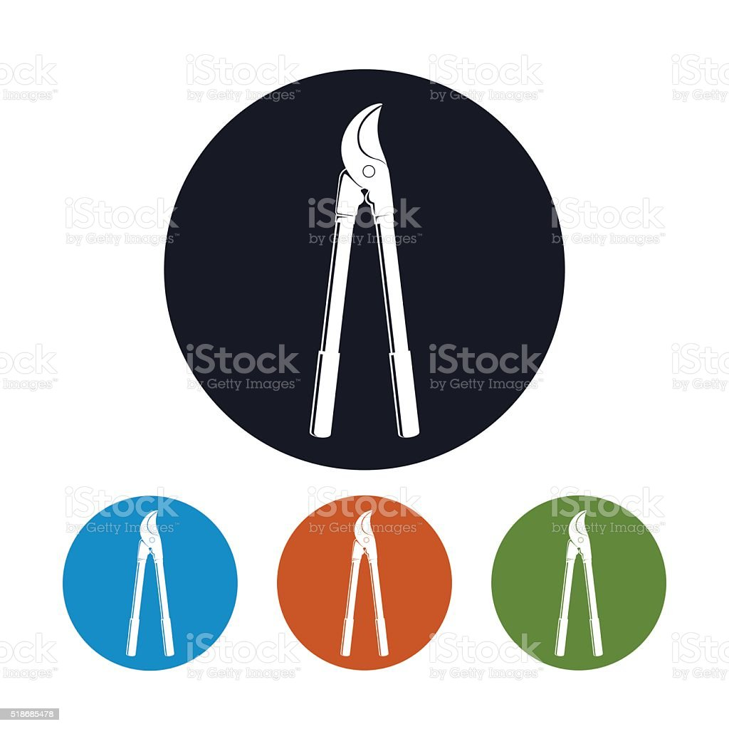 Loppers Icon, Pruning Shear Icon vector art illustration