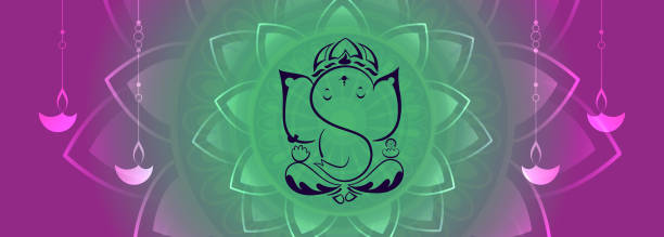lord ganesha kreative semton - ganesh stock-grafiken, -clipart, -cartoons und -symbole