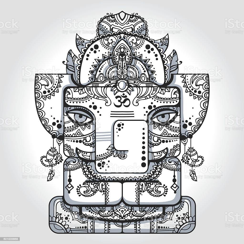 Lord Ganesha vector art illustration