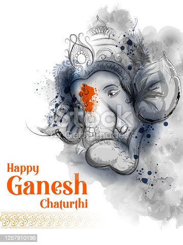 istock Lord Ganpati background for Ganesh Chaturthi festival of India 1257910195