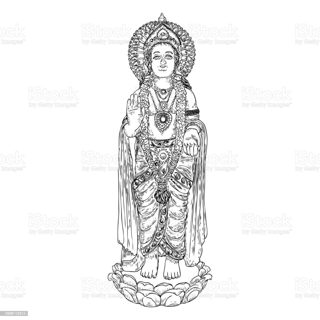 Lord Murugan Classic Statue Drawing God Of War Son Of Shiva And