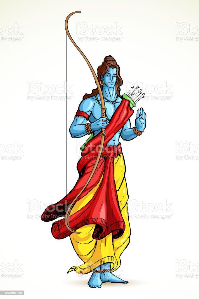 Lord Rama vector art illustration