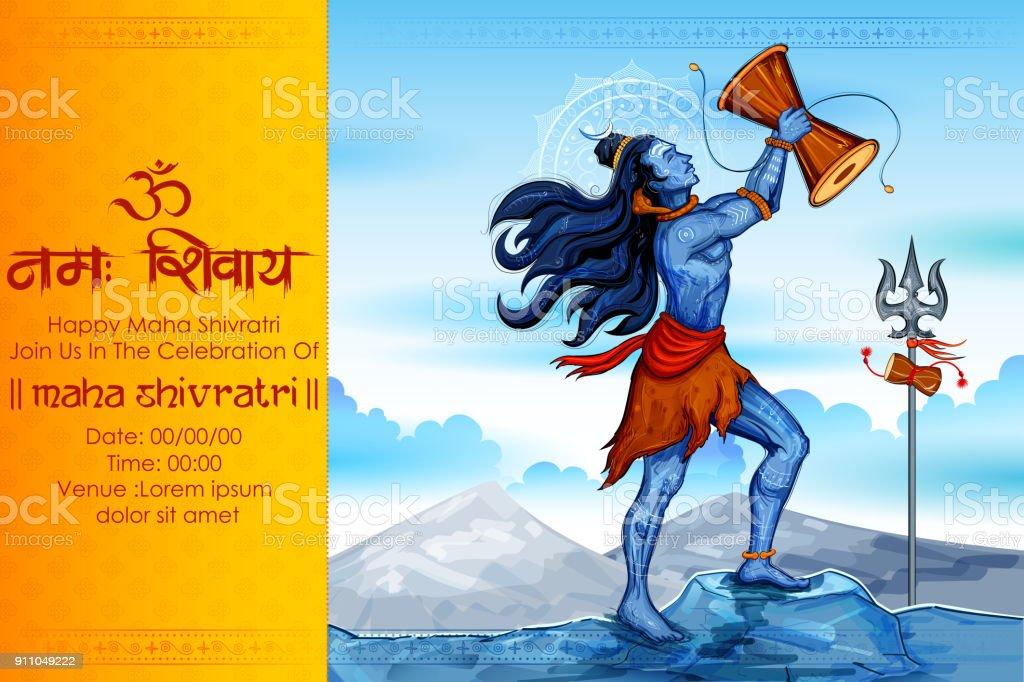 Lord Shiva Indian God Of Hindu For Shivratri Stock Illustration