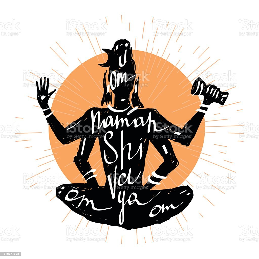 Lord Shiva Typography Poster -...